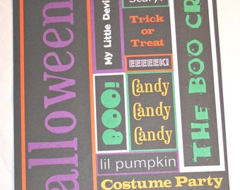 Halloween Die Cut Words