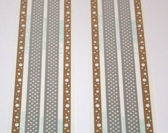 8 Silver Checks and Gold Dots Border Stickers from Mrs. Grossmans