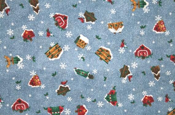 Snowy Country Birdhouse Pillowcase