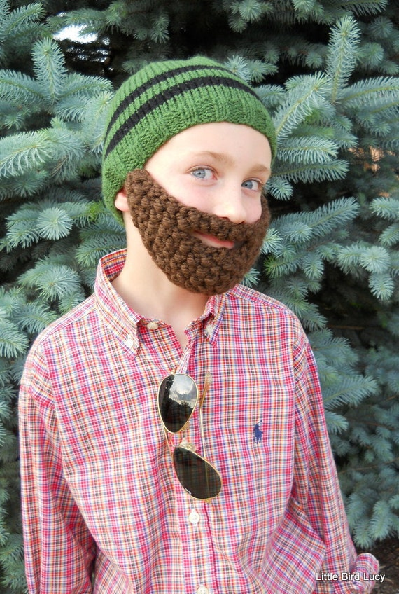 Beard Hat Knit Boys Amp Mens Cap Knitted Beanie By