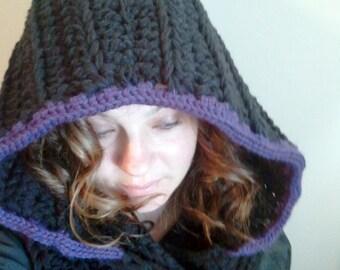 Crochet Hooded Scarf, Hooded Scarf, Womens Hooded Scarf, hooded cowl, Scarf with a Hood, Hooded shawl, crochet scarf with a hood, scoodie