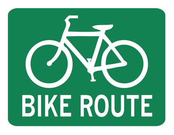 Bike Route Wall Decal