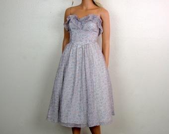 Gunne Sax Sweetheart Lavender Party Dress by Jessica McClintock size 5