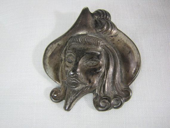 Truart Sterling Man of La Mancha Vintage 1940s Brooch