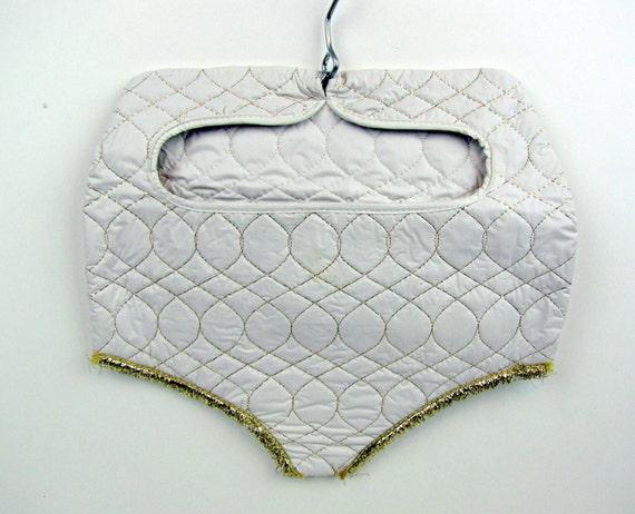 White Vinyl Pantie Lingerie Bag