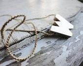 initial letter W sliding pendant necklace