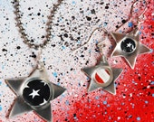Stars and Stripes Earrings and Necklace Set - Americana Jewelry