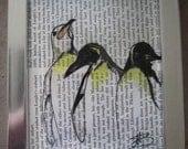framed penguins artwork print