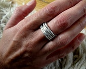 sterling silver stackable rings RESERVED FOR KATE