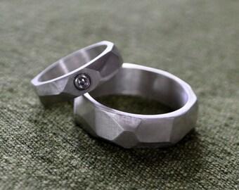Sterling Silver wedding band set