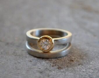 Diamond engagement ring set white gold