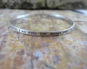 Personalized Bangle Bracelet