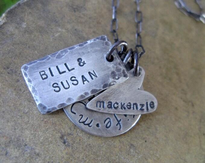 Custom Family Names Necklace