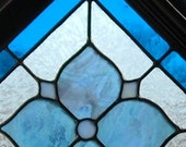 elegant stained glass flower panel (your glass choices)