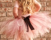 Beautiful Neapolitan Ultra Fluffy Pink Brown and Cream TUTU W/ FREE HAIR CLIP. Newborn through 6T. Flower Girl, Photography, Birthday, Dance Class.
