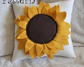 Sunflower Pillow PDF Pattern Tutorial How To -Flower Pillow-
