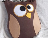Hooter the Owl Plush Pillow PDF Tutorial and Printable Pattern Template