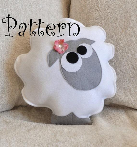 Sheep Pattern PDF -Count the Sheep Plush Pillow PDF Tutorial How to Make DIY