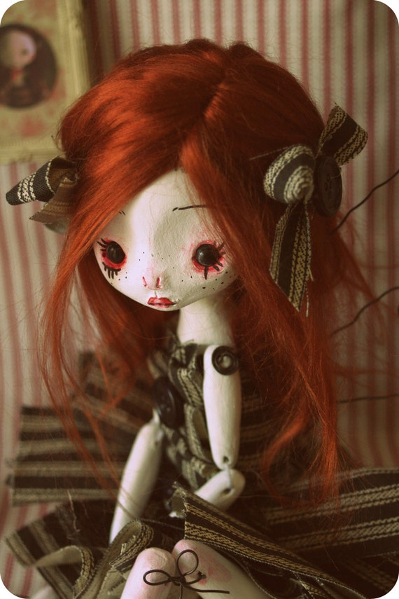 Goth Fairy - OOAK Jointed Art Doll