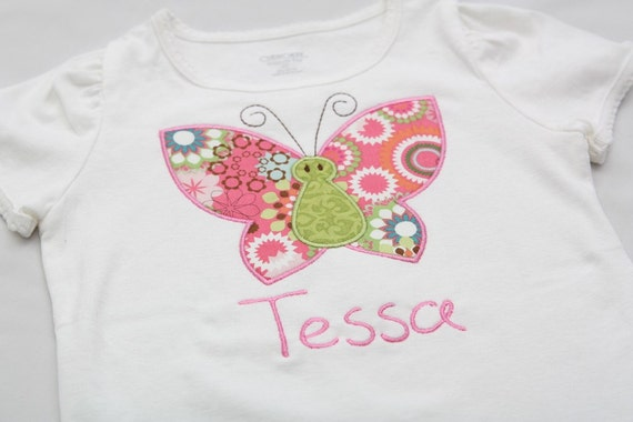 Butterfly Applique Shirt - You CHOOSE size and COLOR