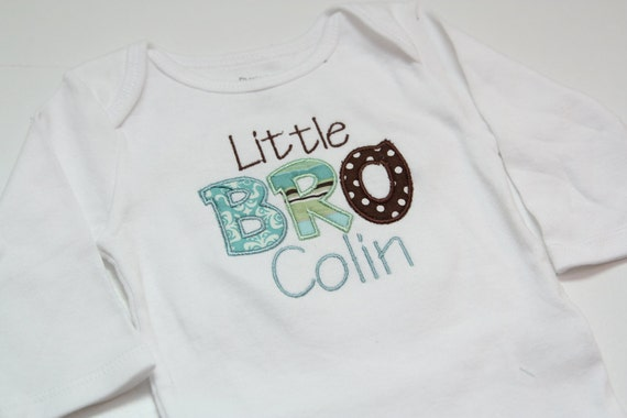 Big Brother or Little Brother  Shirt - Personalized applique