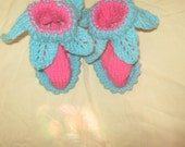 pair of strawberry baby booties