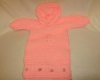 a pink babys sleeping bag