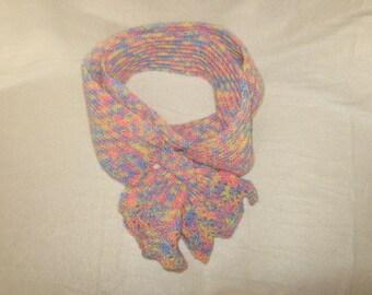 a multi colored sassy scarflett