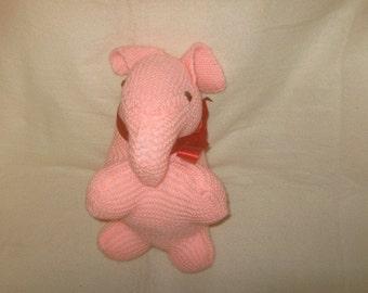 a pink elephant
