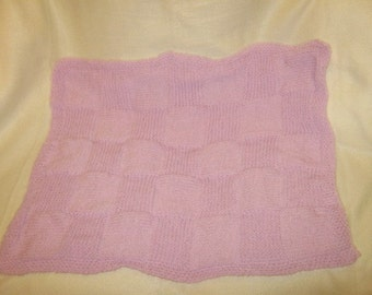 a lilac babys blanket