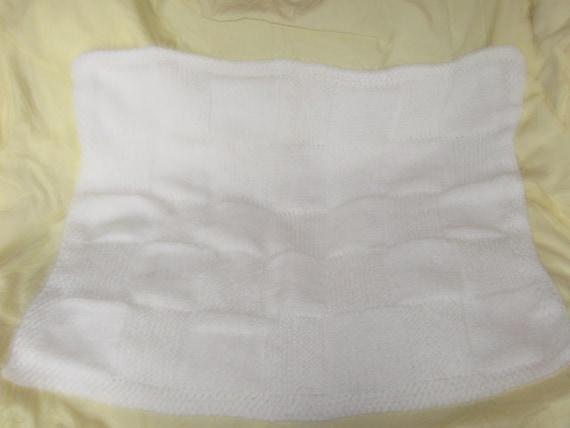 white babys blanket
