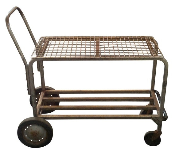 Vintage Industrial Shopping Cart