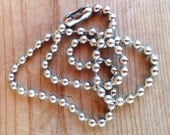 4mm Silver Ball Chain - 18.5 inches
