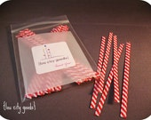 Twist Ties -- Red and White Pack of 100