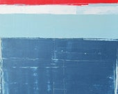 Large Abstract Acrylic Painting, Modern Art, Original Art,tkafka,tracey kafka,Red,White,Blue