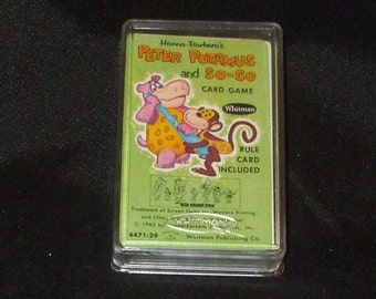 Vintage Hanna Barbera Peter Potamus and So So Card Game In Box