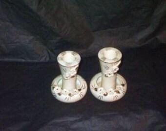 Vintage Japan TILSO Candle Holder Set GORGEOUS