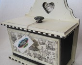 French Country Black and Cream Toile Box