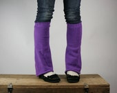 Upcycled Recycled Repurposed Sweater Leg  Warmers Purple