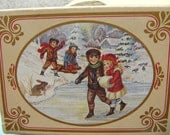 Vintage Avon Winter Frolics Soap New In Box, Winter Scenes Of Children At Play