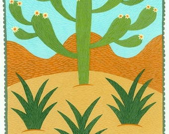 Cactus and Snakes Card