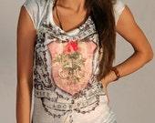 Angel t-shirt Venus women top adorable new design summer fashion tie dye top one side printed