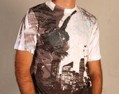 Mechanic Grey Owl Special Design Man Summer Fashion Tshirt one side printed