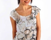 Light Yellow Butterfly Summer Fashion Special Design Tshirt one side printed
