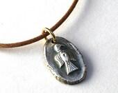 Fine Silver Falcon Totem Necklace