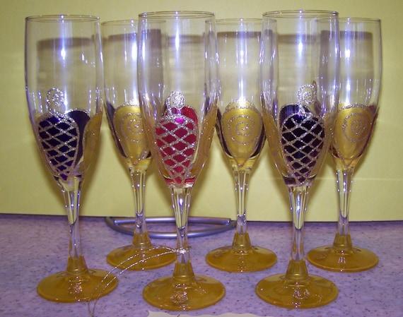 Champagne flute bubbles design - Flute a champagne design ...