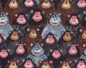 Jungle Monkey I Spy Gorilla Fabric By the Fat Quarter  BTFQ