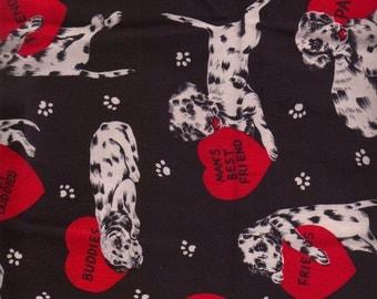 I Love My Dalmatian Puppy Fabric I Spy Dog Quilt Fabric By the Fat Quarter BTFQ OOP