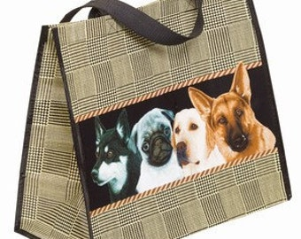Dogs In A Row or All Over Tote Bag  Choice of Pattern