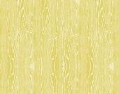 Joel Dewberry - Aviary 2 - Woodgrain in Vintage Yellow - 1 yard